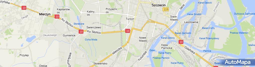 Zdjęcie satelitarne Pizzeria Zielony Melonik