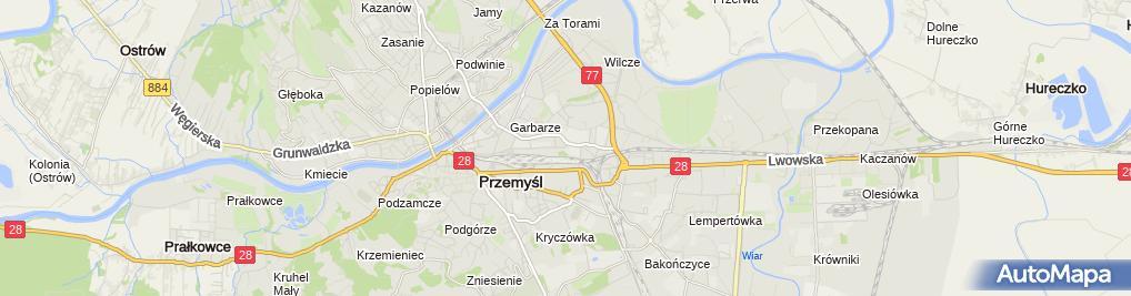 Zdjęcie satelitarne Parking Strzeżony 24h Przemyśl MOTO CENTRUM