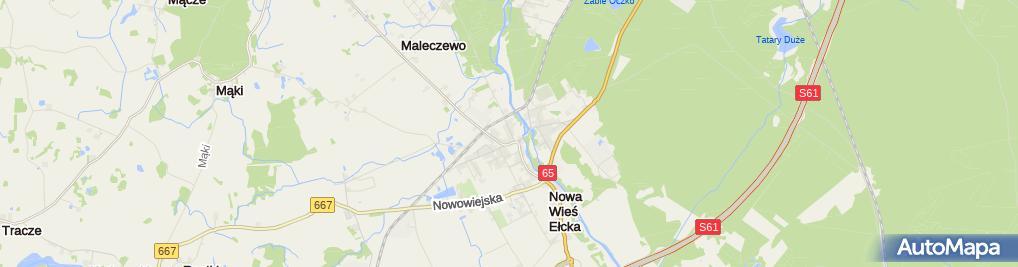 Zdjęcie satelitarne AP Nowa Wieś Ełcka