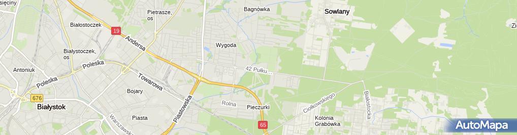 Zdjęcie satelitarne FUP Białystok 1