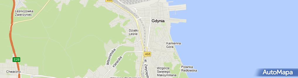 Zdjęcie satelitarne FUP Gdynia 1