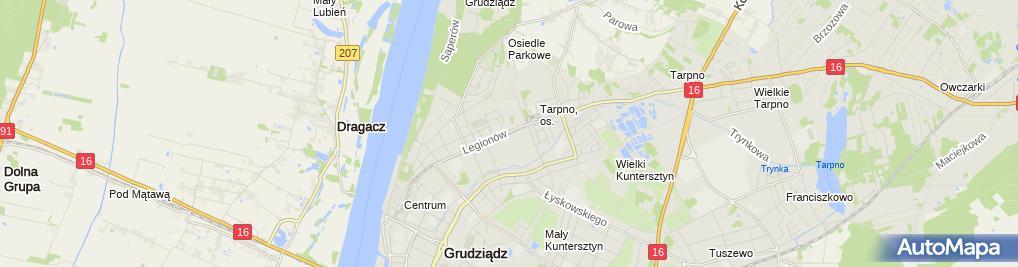 Zdjęcie satelitarne FUP Grudziądz 1