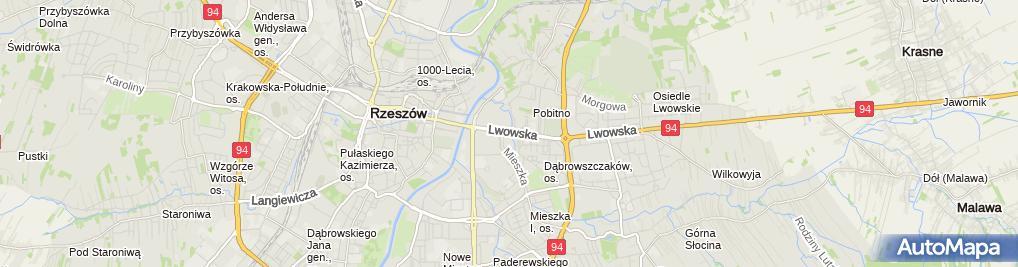 Zdjęcie satelitarne FUP Rzeszów 2