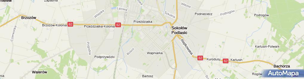 Zdjęcie satelitarne FUP Sokołów Podlaski 1