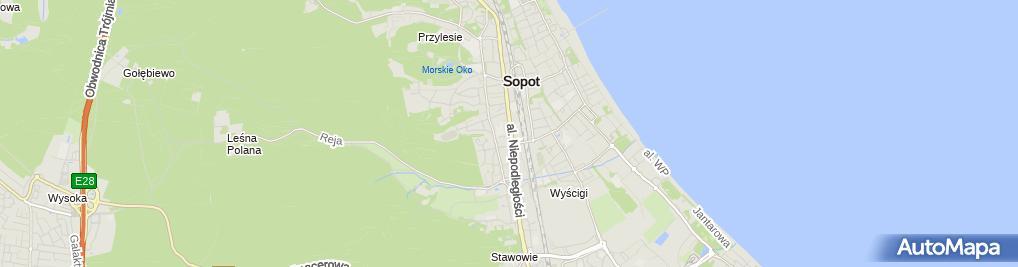 Zdjęcie satelitarne FUP Sopot 1