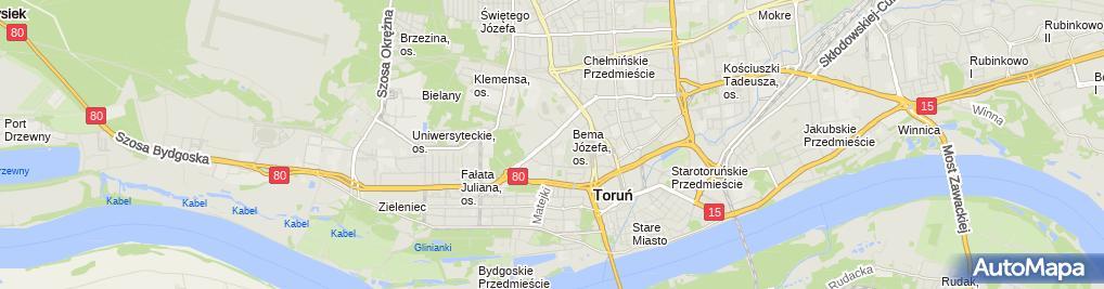 Zdjęcie satelitarne FUP Toruń 2