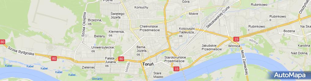 Zdjęcie satelitarne FUP Toruń 3