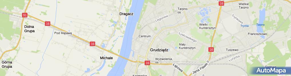 Zdjęcie satelitarne UP Grudziądz 1