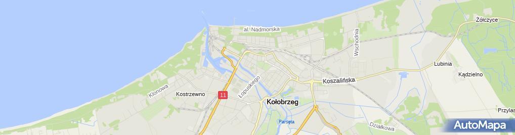 Zdjęcie satelitarne UP Kołobrzeg 1