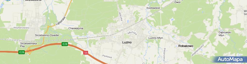 Zdjęcie satelitarne UP Luzino