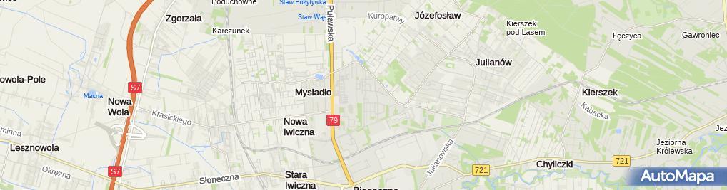 Zdjęcie satelitarne UP Piaseczno k. Warszawy 6