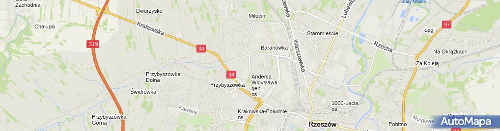 Zdjęcie satelitarne UP Rzeszów 13