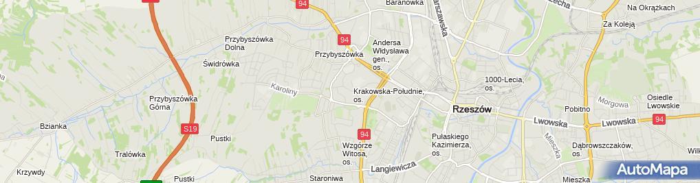 Zdjęcie satelitarne UP Rzeszów 15