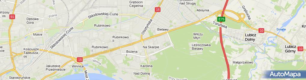 Zdjęcie satelitarne UP Toruń 16