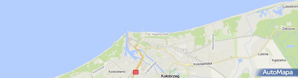 Zdjęcie satelitarne Ada Apartamenty