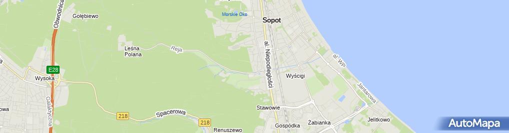 Zdjęcie satelitarne Kwatera prywatna