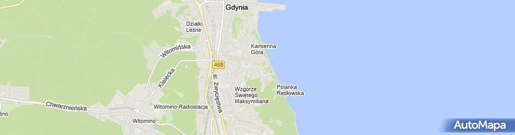 Zdjęcie satelitarne Pokoje gościnne Bursztynek