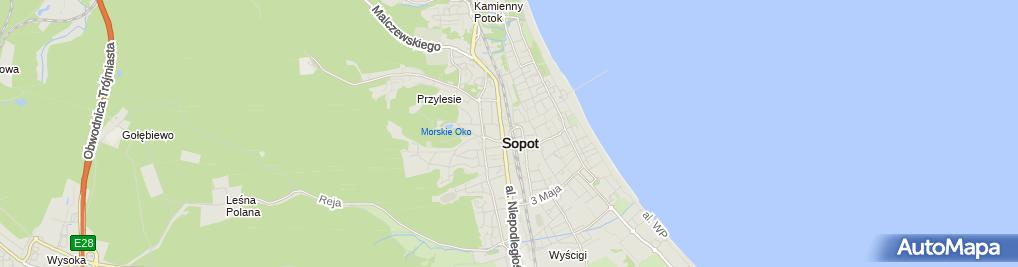 Zdjęcie satelitarne Pokoje gościnne