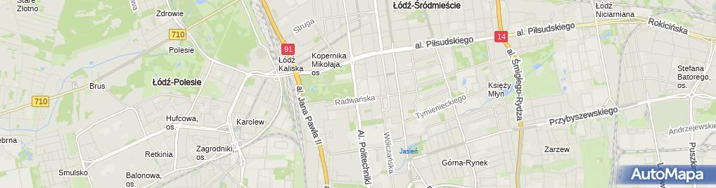 Zdjęcie satelitarne Wydział Inżynierii i Marketingu Tekstyliów
