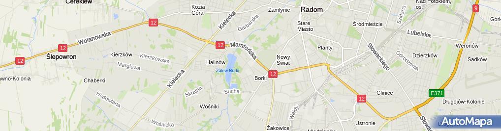 Zdjęcie satelitarne Politechnika Radomska
