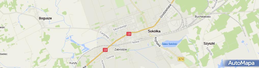 Zdjęcie satelitarne 400 lat miasta Sokółka