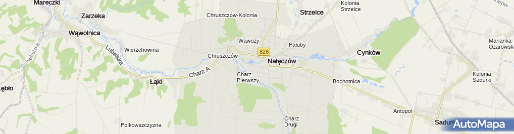 Zdjęcie satelitarne Ławeczka Bolesława Prusa