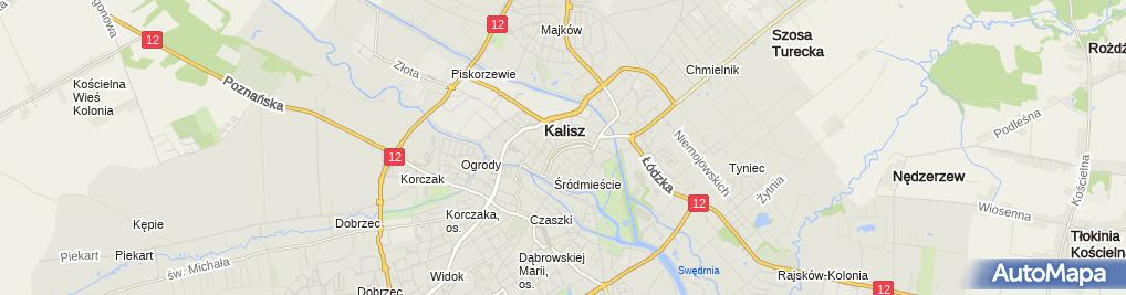 Zdjęcie satelitarne Miejsce zniszczenia książek przez hitlerowców