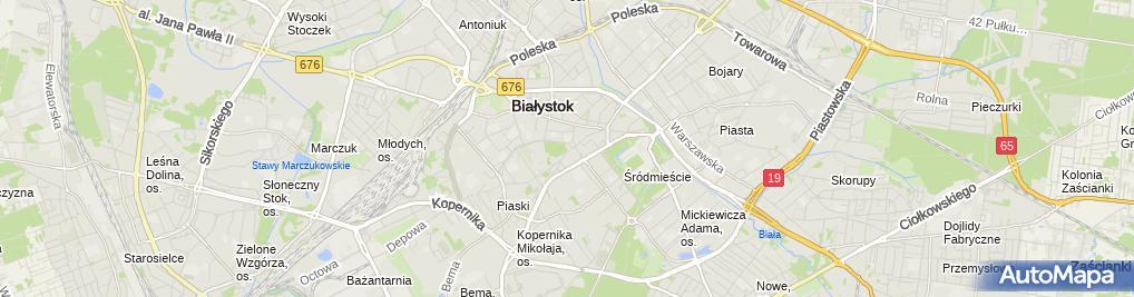 Zdjęcie satelitarne Pomnik Bohaterów Ziemi Białostockiej