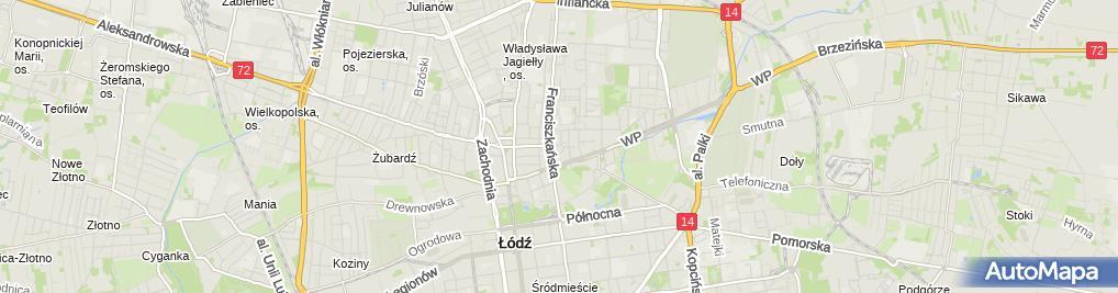 Zdjęcie satelitarne Centrum Zajęć Pozaszkolnych Nr 1