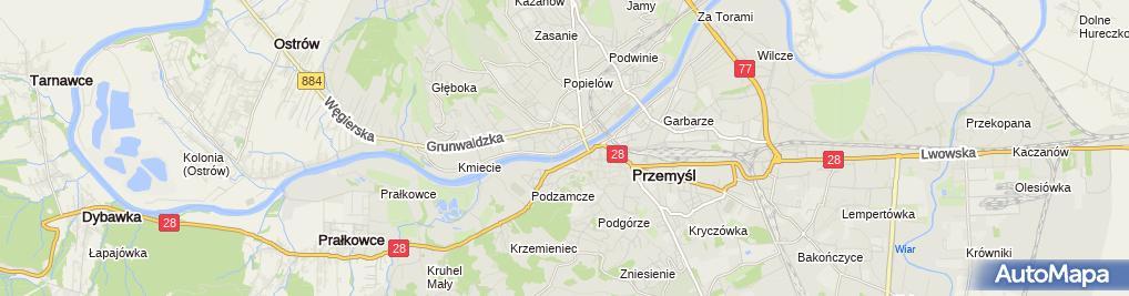 Zdjęcie satelitarne Młodzieżowy Dom Kultury