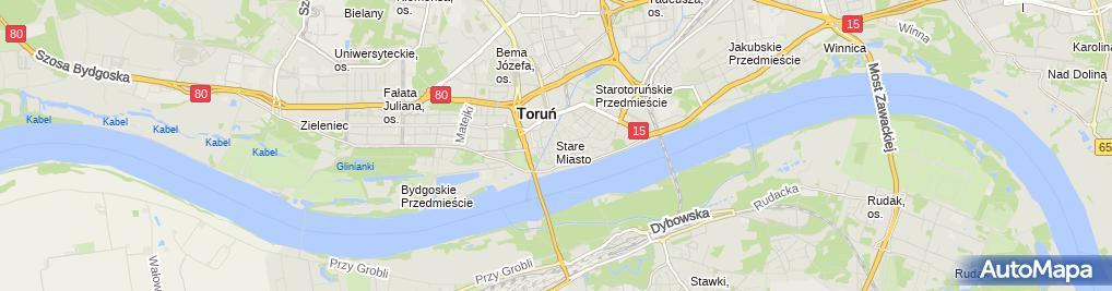 Zdjęcie satelitarne Sklep firmowy Toruńskich Pierników