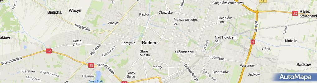Zdjęcie satelitarne Prokuratura Okręgowa w Radomiu