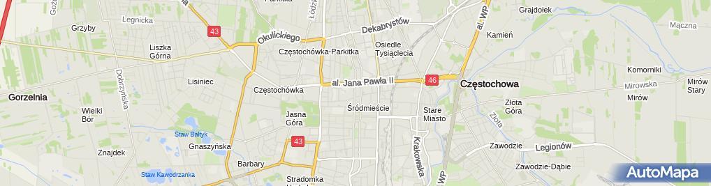 Zdjęcie satelitarne Prokuratura Rejonowa Częstochowa-Północ
