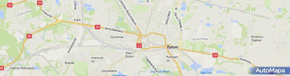 Zdjęcie satelitarne Prokuratura Rejonowa w Bytomiu