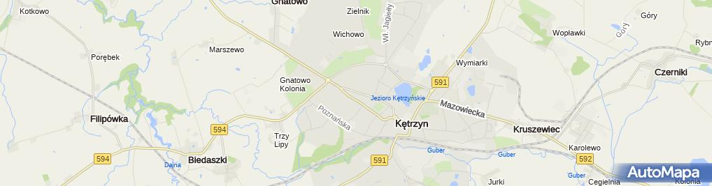 Zdjęcie satelitarne Prokuratura Rejonowa w Kętrzynie