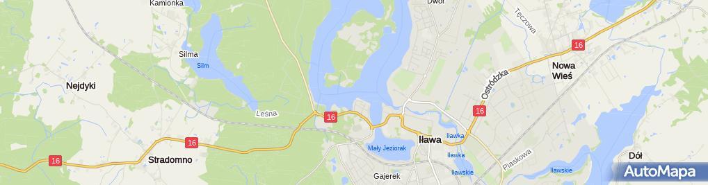 Zdjęcie satelitarne Prom na wyspę Wielka Żuława