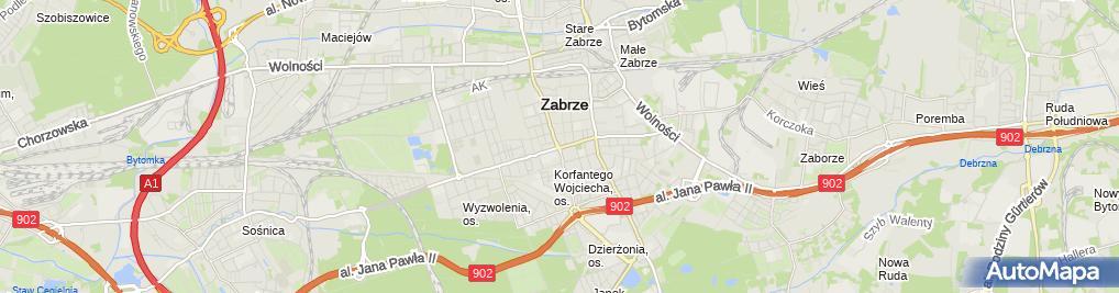 Zdjęcie satelitarne A.G. Serwis Grzegorz Adamski