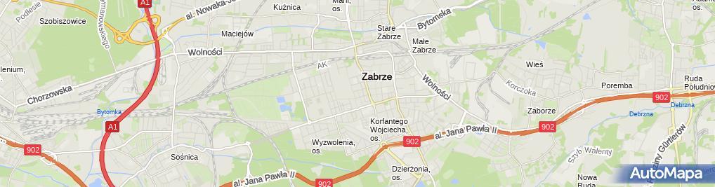 Zdjęcie satelitarne A.S.Akces Emir Kasprzycki