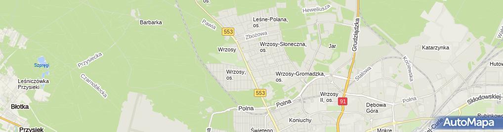 Zdjęcie satelitarne A&T Andrzej Orłowski