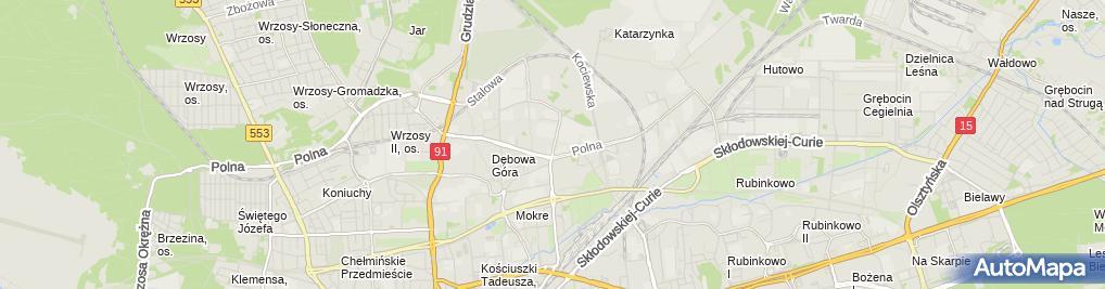 Zdjęcie satelitarne Achtel Sp. z o.o. - Oddział Toruń