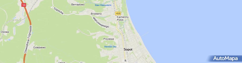Zdjęcie satelitarne Acma Chrobot Morawska
