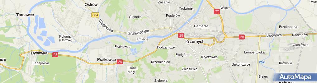 Zdjęcie satelitarne Adam Lisowiec Licencjonowani Zarządcy Nieruchomości DOM-BUD