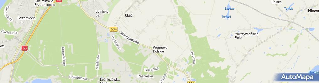 Zdjęcie satelitarne Adkom Adam Błachnio