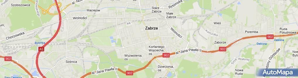Zdjęcie satelitarne Adriana Górzny Kancelaria Notarialna MGR Krzysztof Madej MGR Jadwiga Przyszlak i MGR Adriana Górzny