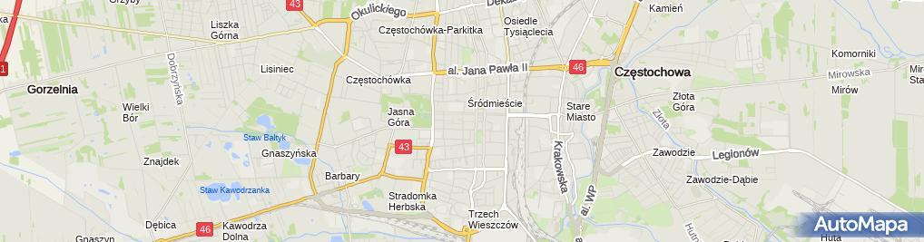 Zdjęcie satelitarne Aeroklub Częstochowski