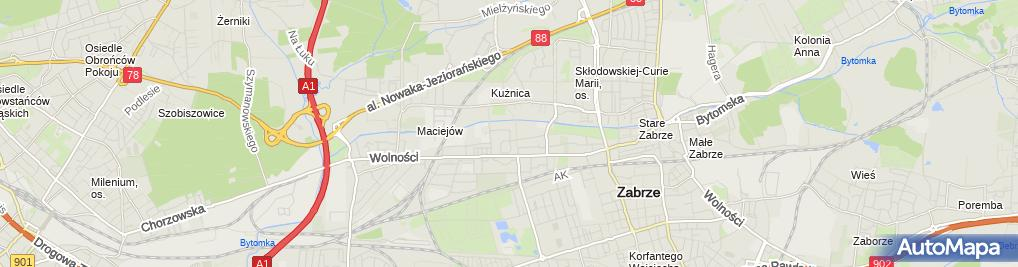 Zdjęcie satelitarne Agencja Handlowa Oj Katarzyna Michalska Barbara Bobkowska