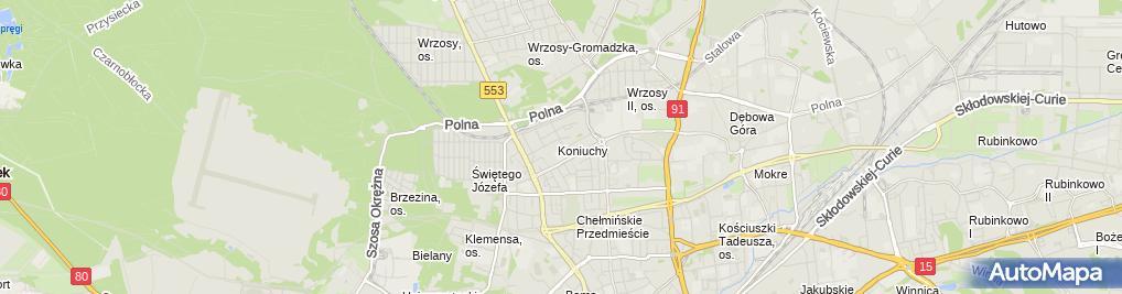 Zdjęcie satelitarne Agencja Handlowo Serwisowa Megazec G Karnowski D Siódmiak