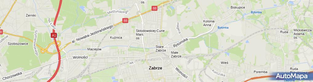 Zdjęcie satelitarne Agencja Ochrony Mienia i Osób Secret-Serwis Inga Szyrwińska-Kubica