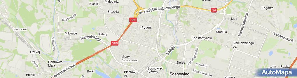 Zdjęcie satelitarne Agencja Pośrednictwa i Usług Finansowych Skorpion