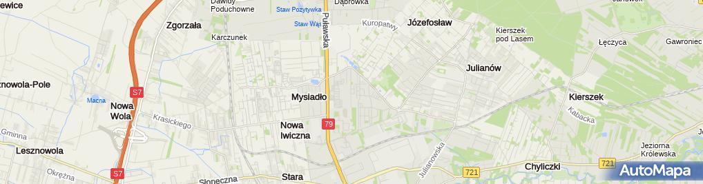 Zdjęcie satelitarne Agencja Reklamy Kwadrat Mann Zuzanna Mann Wojciech